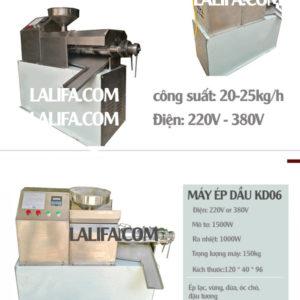 Máy ép dầu thực vật KD06 20-25kg/h
