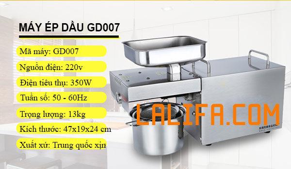 máy ép dầu thực vật GD-007
