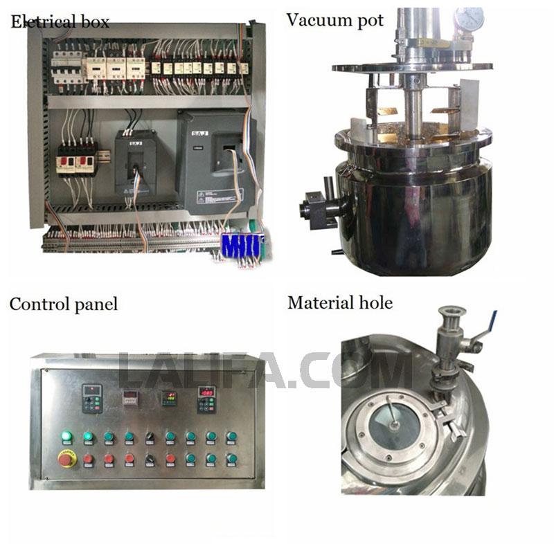 Hộp điện điều khiển và tank chứa nguyên liệu đem trộn