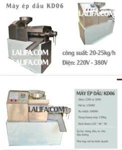 Máy ép dầu thực vật KD06 30-35kg/h