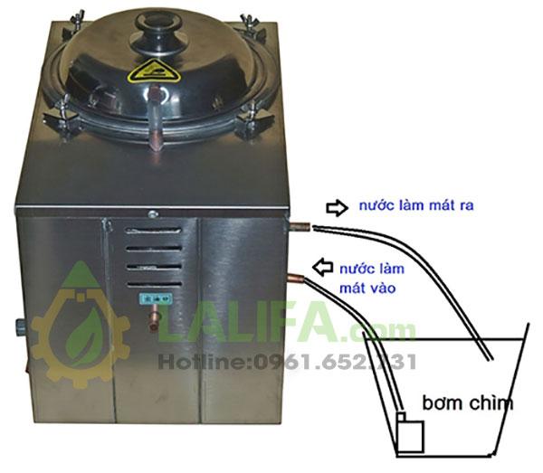 Máy chưng cất tinh dầu bằng hơi nước 5 lít0