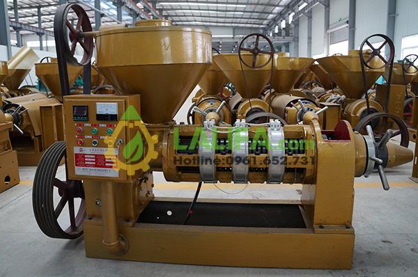 Máy ép dầu lạc Guangxin YZYX-140WK kiểm soát nhiệt độ bằng tủ điện điều khiển tự động