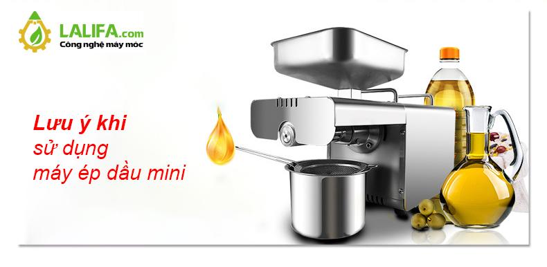 Lưu ý quan trọng khi sử dụng máy ép dầu lạc mini cho gia đình
