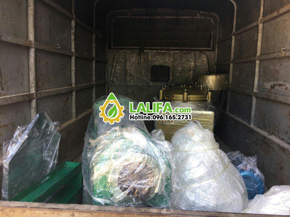 vận chuyển bộ máy ép dầu công nghiệp tới nhà khách lalifa
