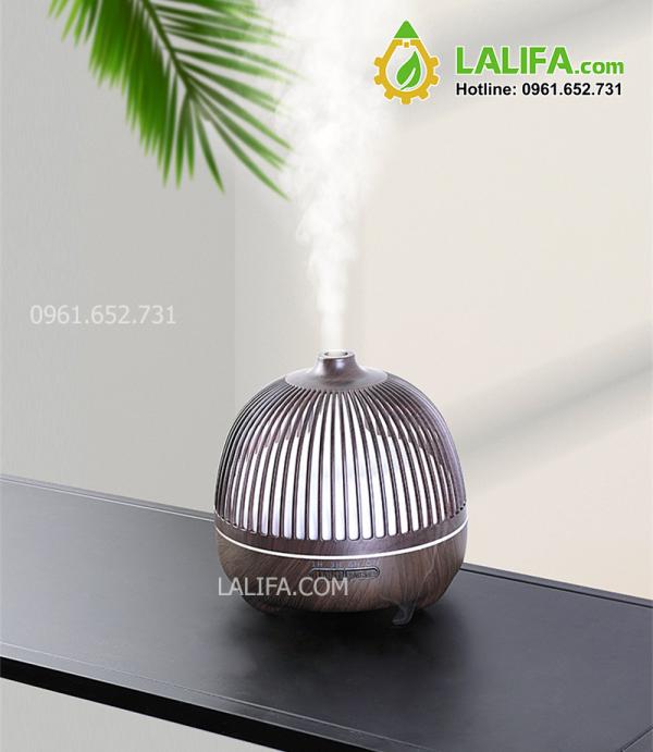 Máy khuếch tán tinh dầu lồng chim vân gỗ cao cấp MTALA020